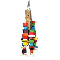 Wooden-Parrot-Toy-Hanging-Colorful-Natural-Wood-Non-Toxic-Lrge-Birds-Macaws-Toys