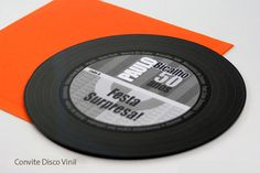 disco vinil convite - Pesquisa Google