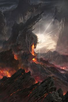 Pyroclastic, magma, or volcano dragon