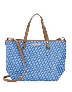 Barbara Rihl Geometric Leather Tote Women's Blue