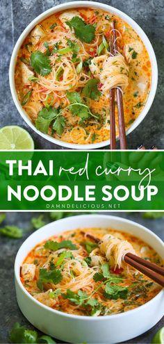 Vegetarian Recipes, Cooking Recipes, Healthy Recipes, Thai Curry Recipes, Thai Soup Vegetarian, Best Soup Recipes, Healthy Soups, Heathly Soup Recipes, Laksa Soup Recipes