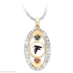 For The Love Of The Game Falcons Pendant Necklace