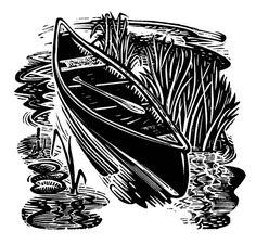 Canoe - wood-engravings at the Kenspeckle Letterpress