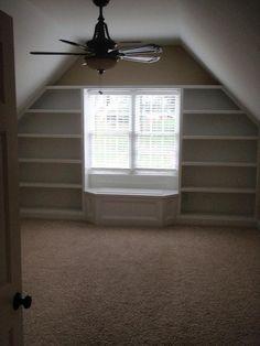 Bonus room with built in book shelves | Flickr - Photo Sharing!