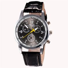 Durable Men Watches Luxury Fashion Faux Leather Mens Analog Watch Wrist Watches 12.25 #CLICK! #clothing, #shoes, #jewelry, #women, #men