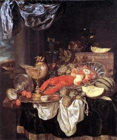 Abraham van  Beyeren - Grosses Stilleben mit Hummer (1653) - Öl auf Leinwand - 126x105 cm - Alte Pinakothek, München