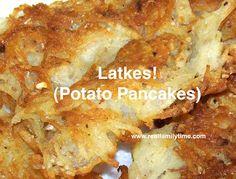 Our family recipe for Latkes (potato pancakes), the traditional Chanukah comfort food!  #Hanukkah