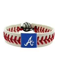 Atlanta Braves Classic Baseball Bracelet by GameWear