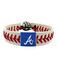Atlanta Braves Classic Baseball Bracelet by GameWear