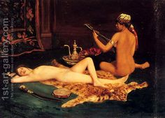 Reclining Odalisque, a painting by Hermann Fenner Behmer