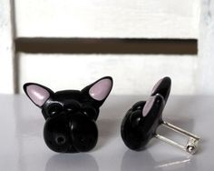 French Bulldog Cufflinks Dog Cuff Links Dogs by BijottiCiciotti