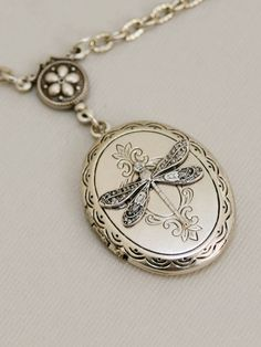 16b46ba0b1a Love this Silver Dragonfly LocketSilver LocketLocketSilver by emmagemshop