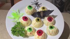 Блюда на Хэллоуин. Глаза Зомби.