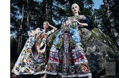 Dolce & Gabbana Alta Moda, Dress, photographed by Steve Hiett for Vogue Italia, 2014