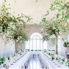 FOR THE RECEPTION || NOVELA BRIDE - Campbell Point House in Victoria Australia with all white table settings & arched windows || www.novelabride.com @novelabride #jointheclique