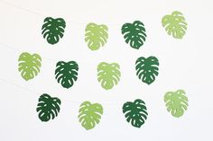 Palm Leaf Tropical Party Banner  Customizable by studioMshop