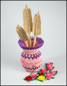 Pink vase tutorial -> mikaglo.blogspot.com