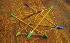 Almost Unschoolers: A Tensegrity Icosahedron Model (or that cool collapsible thing from Little Man Tate) Fun Math, Math Activities, Math Projects, Homeschool Math, Little Man, Cool Kids, Geometry, Cool Stuff, Model