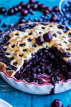 Vanilla Bourbon Cherry-Blueberry Pie | 27 Pies That Couldn't Be More Fabulous If They Tried