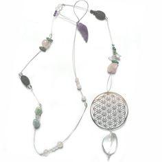 Swarovski, Dream Catcher, Home Decor, Flower Of Life, Pink Quartz, Geometry, Gems, Crystals, Handarbeit