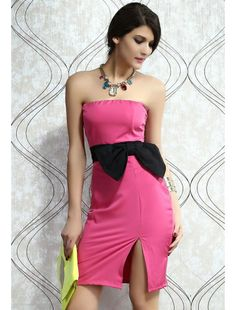 Stunning Side up Strapless Roseo Dress | buy sexy Club Dresses ,  Club wear online in india | StringsAndMe
