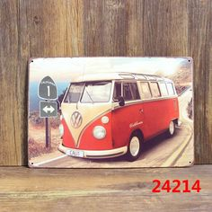 VW bus Vintage Metal signs wall decor House Bar Metal Paintings art B 131 Mix order 20*30 CM-in Plaques & Signs from Home & Garden on Aliexpress.com | Alibaba Group