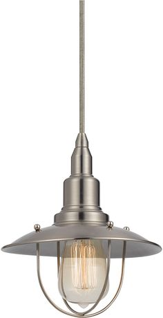 Cal UP-1113-6-BS Allentown Nautical Brushed Steel Mini Pendant Lighting Fixture  sc 1 st  Pinterest : sea themed lighting - azcodes.com