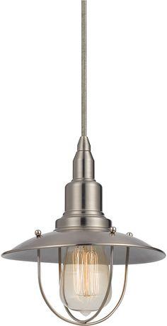 Cal UP-1113-6-BS Allentown Nautical Brushed Steel Mini Pendant Lighting  Fixture