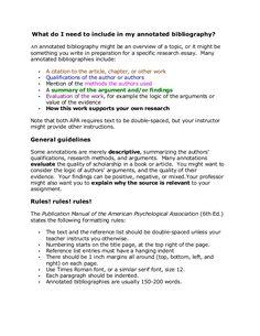 Sample APA Annotated Bibliography