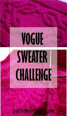 Vogue sweater challenge - knitting the back (week 6)