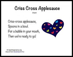 Criss Cross Applesauce