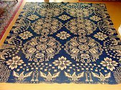 Dated July 4 1834 Jacquard Coverlet Signed Eagles Independence Hall   eBay  sold   600.00.     ...~♥~