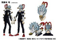 Nuevos diseños de personajes para Tomura Shigaraki del Anime Boku no Hero Academia.