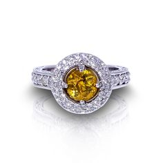 Do you like yellow sapphires? See our golden sapphire halo ring created by the artisans at Jewelry Designs in Danbury, Connecticut. Pink Sapphire Ring, Sapphire Jewelry, Show Beauty, Danbury Connecticut, Halo Rings, Jewelry Design, Designer Jewelry, Ring Designs, Jewelry Collection