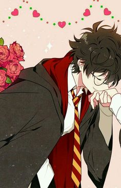Harry potter in anime style^^ Couple Amour Anime, Couple Anime Manga, Anime Couples Drawings, Anime Love Couple, Anime Couples Manga, Cute Anime Couples, Couple Drawings, Anime Guys, Harry Potter Anime