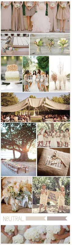 COLOR INSPIRATION: NEUTRAL WEDDINGS - I love this with one or two bold colors in the accessories (shoes, flowers, etc)