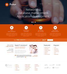 IT Company WordPress Theme on Behance
