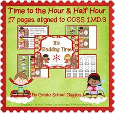 ($) These 17 pages of practice with time to the hour and half hour align to the Common Core!