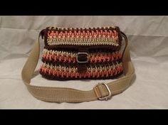 #Crochet Handbag crochet ribbon Purse #Tutorial crochet womens DIY crochet - YouTube