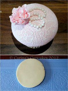 DIY Weddings: Edible Lace Cake Icing