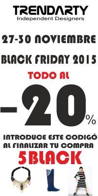 Black Friday in Trendarty.com -20% de DESCUENTO https://www.facebook.com/trendarty/?ref=hl https://twitter.com/trendarty5 https://es.pinterest.com/trendarty/ and https://vimeo.com/trendarty #blackfriday #lujo #luxury #jetset #richlife #vips #belleza #beauty #moda #rebajas #descuentos #chollos #lowcoast #bargain #outlet #modamuje #modahombre #modadeinvierno #dress #vestidos