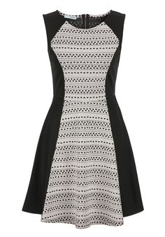 fit and flare dress in ethnic print - maurices.com