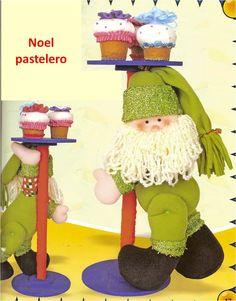 Patrón Noel pastelero navideño