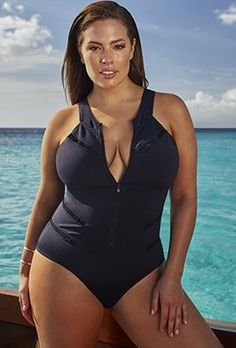 Ashley Graham channels 007 in new campaign for her first swimwear line | Daily Mail Online