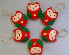 Handmade Felt and Cotton Fabric Hearts set by LITTLEFACTORYCRAFTS