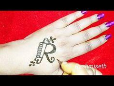 R Letter henna tattoo Mehndi Design Alphabet Tattoo Designs, R Tattoo, Mehendi, Mehndi Designs, Heart Shapes, Lettering, Beautiful, Youtube, Tattoo Art
