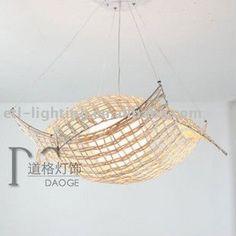 Alta calidad hermosa forma barco Rattan hechos a mano de la lámpara con esmalte Glass envío libre por el ccsme