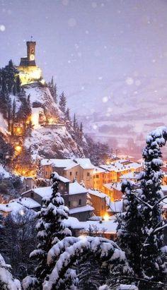 Snow - Brisighella, Ravenna, Emilia-Romagna, Italy