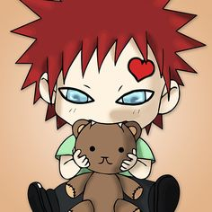 Gaara Chibi : Available as Cards, Prints, Posters, T-Shirts & Hoodies, Kids Clothes, Stickers, iPhone & iPod Cases, and iPad Cases