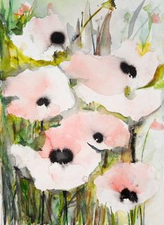 Pink Poppies VII, Karin Johannesson